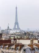 Paris, France, on March 25, 2011. An urban view from a survey terrace of Gallery Lafayette. Roofs of Paris — Stock Photo