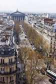 Paris, France, on March 25, 2011. Typical city landscape. View of streets Paris in the spring afternoon — Stock Photo