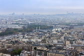 Paris, France, on March 27, 2011. A view of the city from the Eiffel Tower in the early foggy morning — Stock Photo