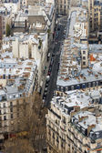 Paris, France, on March 27, 2011. A view of the city from the Eiffel Tower — Stock Photo