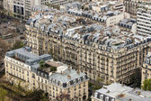 Paris, France, on March 27, 2011. A city landscape from height of bird's flight. A view from a survey platform on the Eiffel Tower — Stock Photo
