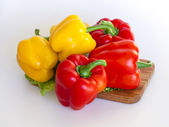 Large sweet red peppers paprika — Stock Photo