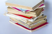 Pile of old vintage books — Stock Photo