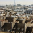 ������, ������: Paris France on March 27 2011 A view of city roofs from survey gallery of the Centre Georges Pompidou