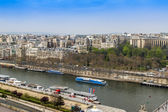 Paris, France, on March 27, 2011. A view from a survey platform on the Eiffel Tower to Seine and its embankments — Stock Photo
