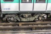 Paris, France, on March 24, 2011. Train of the Parisian subway — Stock Photo
