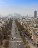 Paris, France, on March 26, 2011. A view from a survey platform on the Triumphal Arch — Stok fotoğraf
