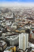 Berlin, Germany, on February 20, 2013. A view of the city from a survey platform of a television tower in the winter — 图库照片