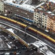 Berlin, Germany, on February 20, 2013. City landscape. A view of houses and the line a subway from height of bird's flight in the winter cloudy afternoon — Stock Photo #62614561