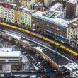 Berlin, Germany, on February 20, 2013. City landscape. A view of houses and the line a subway from height of bird's flight in the winter cloudy afternoon — Stock Photo #62614563
