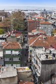 Istanbul, Turkey. April 28, 2011. City landscape. houses on the bank of the Bosphorus Strait — Stock Photo