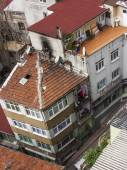 Istanbul, Turkey. April 28, 2011. A view of houses on the bank of the Bosphorus Strait from a high point — Stock Photo