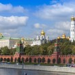 Moscow, Russia, on September 10, 2010. View of the Kremlin and Kremlevskaya Embankment. — Stock Photo #65257461
