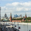 Moscow, Russia, on September 10, 2010. View of the Kremlin and Kremlevskaya Embankment. — Stock Photo #65257469