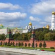 Moscow, Russia, on September 10, 2010. View of the Kremlin and Kremlevskaya Embankment. — Stock Photo #65257521