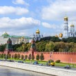 Moscow, Russia, on September 10, 2010. View of the Kremlin and Kremlevskaya Embankment. — Stock Photo #65257609