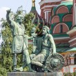 Moscow, Russia, on July 2, 2010. a monument to national heroes Minin and Pozharsky on Red Square — Stock Photo #65487789