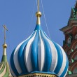 Moscow, Russia, on July 2, 2010. St. Basil's Cathedral on Red Square, one of numerous domes — Stock Photo #65487803