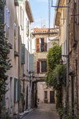Antibes, France, on October 15, 2012. Typical architectural details in Provencal style. Antibes - one of the most known resorts of the French Riviera — Stock Photo