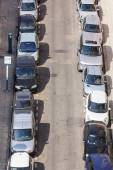 Nice, France, on March 13, 2015. A parking on entry into the old city, the top view — Стоковое фото