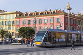 Nice, France, on March 13, 2015. Architectural complex of Victor Massena Square, central square of the city — Stockfoto