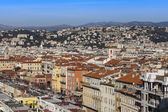 Nice, France, on March 7, 2015. The top view on the old city from Shatto's hill — Stock fotografie