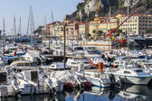 Nice, France, on March 10, 2015. yachts in city port — Foto Stock