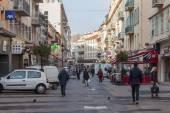 Nizza, Frankreich, am 10. März 2015. Die Straße in die Stadt — Stockfoto