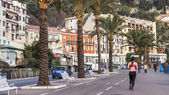 Nice, France, on March 14, 2015. Typical urban landscape in the morning — Stock Photo