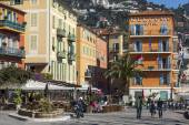 Vilfransh Sur Mer, France, on March 10, 2015.Typical urban view. Vilfransh Sur Mer - the suburb of Nice, one of popular resorts of French riviera — Stock Photo