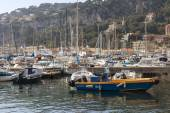 Vilfransh Sur Mer, France, on March 10, 2015. Boats in city port — Stock Photo