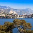 Nice, France, on March 10, 2015. The top view on a bay and the picturesque coast in the suburbs Vilfransh. — Stock Photo #72800817
