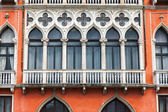 VENICE, ITALY - on APRIL 30, 2015. A fragment of the typical building on the city street. Historical building — Stock Photo