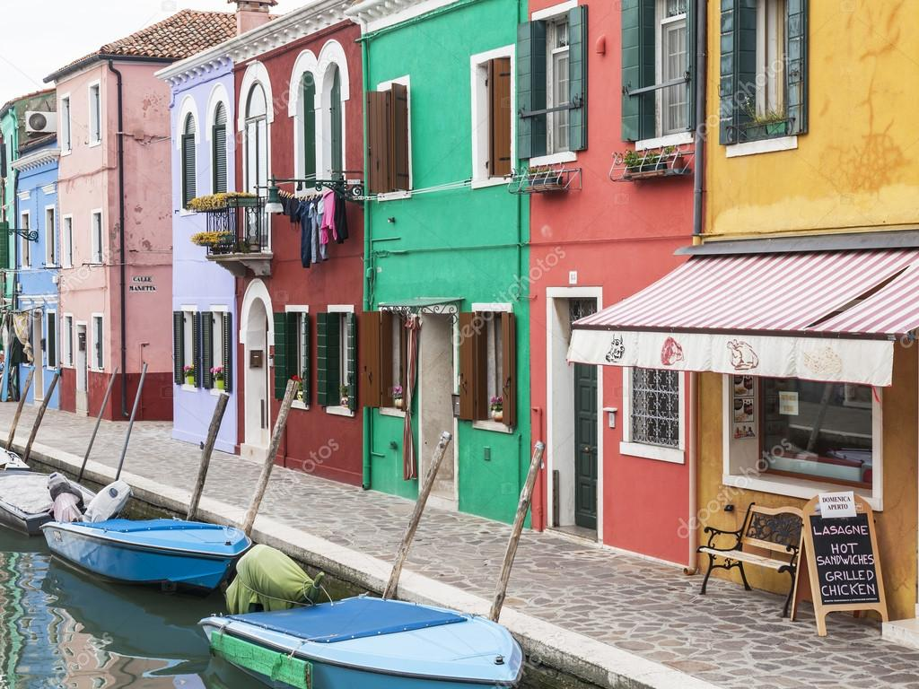 Colorful burano italy burano tourism - Venice Italy On April 30 2015 Burano Island Multi Colored Houses Of Locals Burano The Island One Of Attractive Tourist Objects In The Venetian