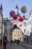 俄罗斯的莫斯科,在 2015 年 4 月 12 日。Tretyakovsky Proezd 街,行人专用区. — 图库照片