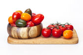 Tomatoes of various grades — Stock Photo
