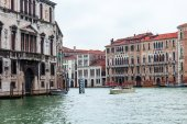 VENICE, ITALY - on MAY 3, 2015. City landscape. Main thoroughfare of the city Grandee channel (Canal Grande). — Stock Photo
