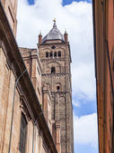 BOLOGNA, ITALY, on MAY 2, 2015. Typical urban view in the bright sunny day — Stock Photo