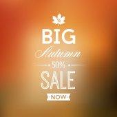 Jesień sprzedaży plakat — Wektor stockowy
