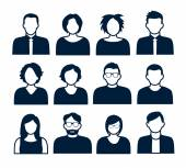Avatars - Characters — Stock Vector