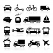 Transport Icons — Stock Vector #66425081