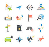 Navigation Icons Flat Design — Stock Vector