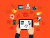 E-learning Background — Stock vektor