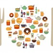 Food Icons Background — Stock Vector #69908829