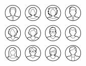 Avatars - characters or profile pictures — Vector de stock