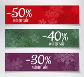 Vendita banner inverno — Vettoriale Stock