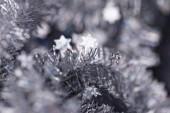 Silver tinsel — Stock Photo