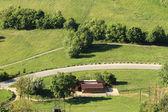 Green lanscape of farm — Stock Photo