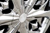 Detail photo of a car rim — Stock Photo