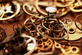 Details of clock parts — Stock Photo